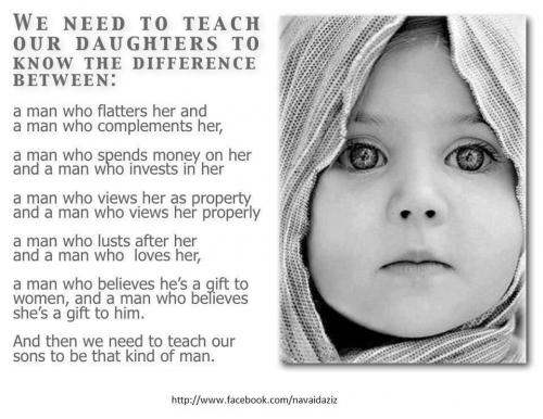 We Need To Teach Our Daughters To Know The Difference Between