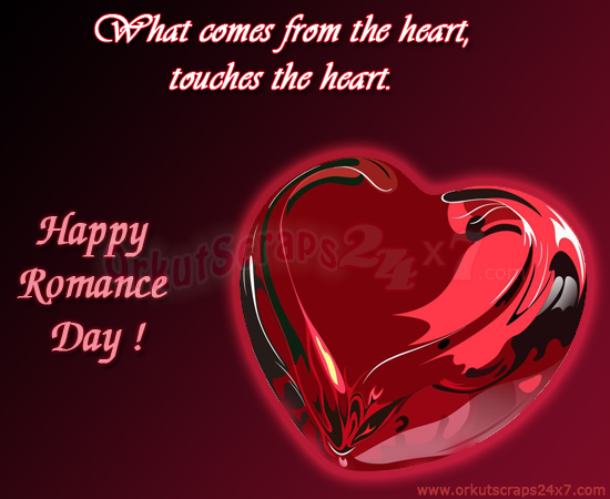What Comes From The Heart, Touches The Heart. Happy Romance Day!