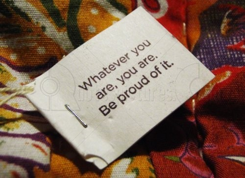 Whatever You Are, You Are. Be Proud Of It
