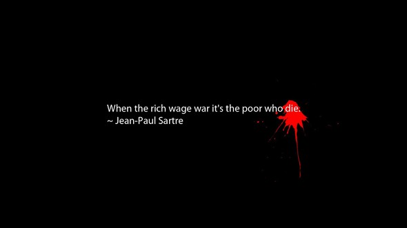 When The Rich Wage War It's Poor Who Die