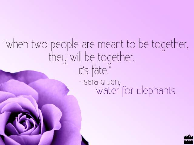 """When Two People Are Meant To Be Together, They Will Be Together, It's Fate"""