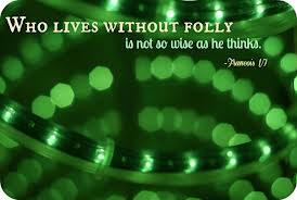 Who Lives Without Folly Is Not So Wise As He Thinks ~ Apology Quote