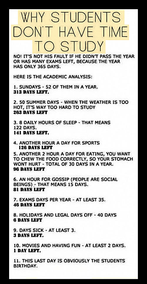 Why Students Don't Have Time To Study