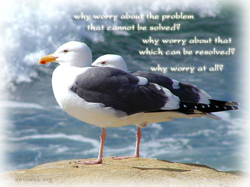 Why Worry About Problem That Cannot Be Solved! Why Worry About That Which Can Be Resolved! Why Worry At All!