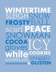 Winter Time Sleigh Snow Frosty Ball Scarf Peace Snowman Cocoa Gloves Icy White Cookies Snowflake