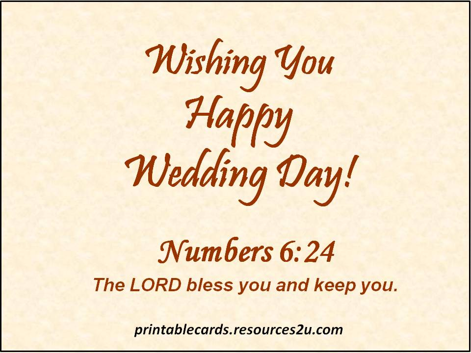 Wishing You Happy Wedding Day!