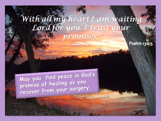 With All My Heart I Am Waiting Lord For You. I Trust Your Promises