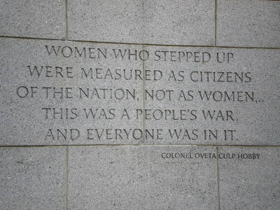 Women Who Stepped Up Were Measured As Citizens Of The Nation, Not As Women This Was A People's War And Everyone Was In It