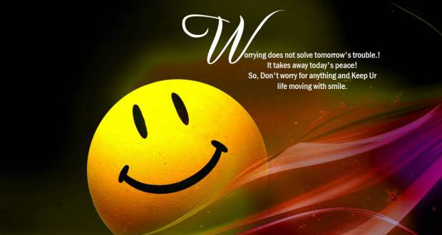 Worring Does Not Solve Tomorrow's Trouble!