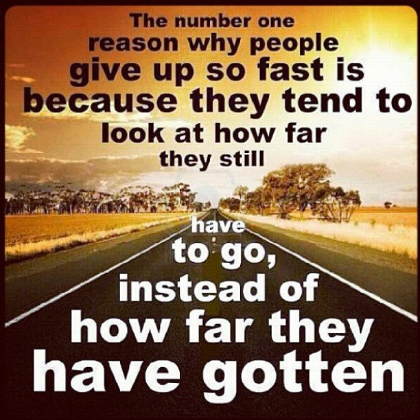 The Number One Reason Why People Give Up So Fast Is Because They Tend To Look