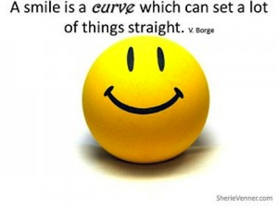 A Smile Is a Curve Which Can Set a Lot of Things Straight