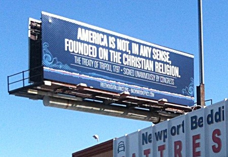 America Is Not, In Any Sense, Founded On The Christian Religion