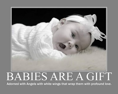 Babies Are A Gift Adorned With Angels With White Wings That Wrap Them With Profound Love.