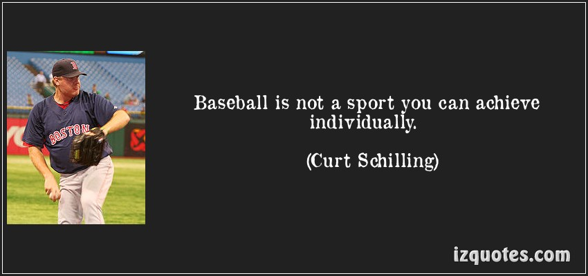 Baseball Is Not A Sport You Can Achieve Individually