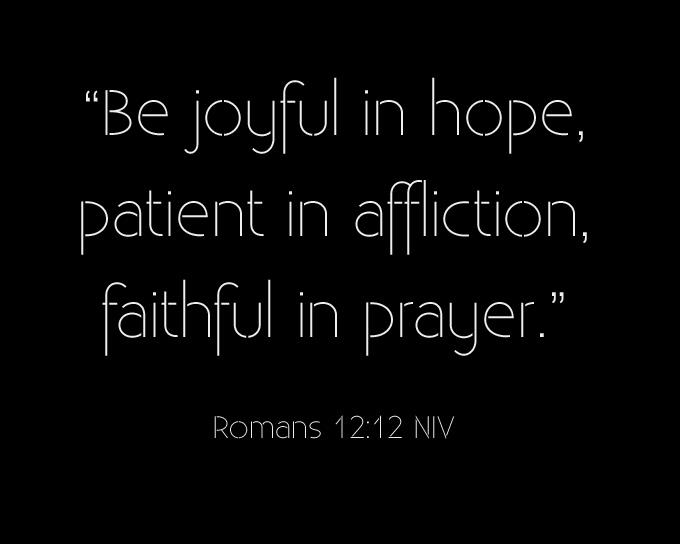 Be Joyful In Hope Patient In Affliction Faithful In Prayer Extraordinary Bible Quotes About Hope