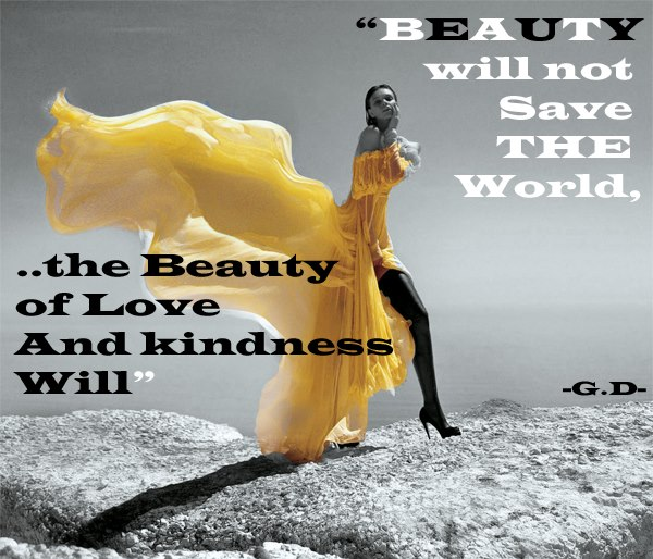Beauty Will Save The World Quote Poster | Zazzle.com