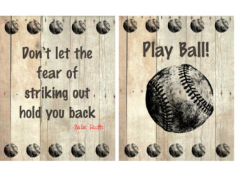 Don't Let The Fear Of Striking Out Hold You Back Play Ball!!