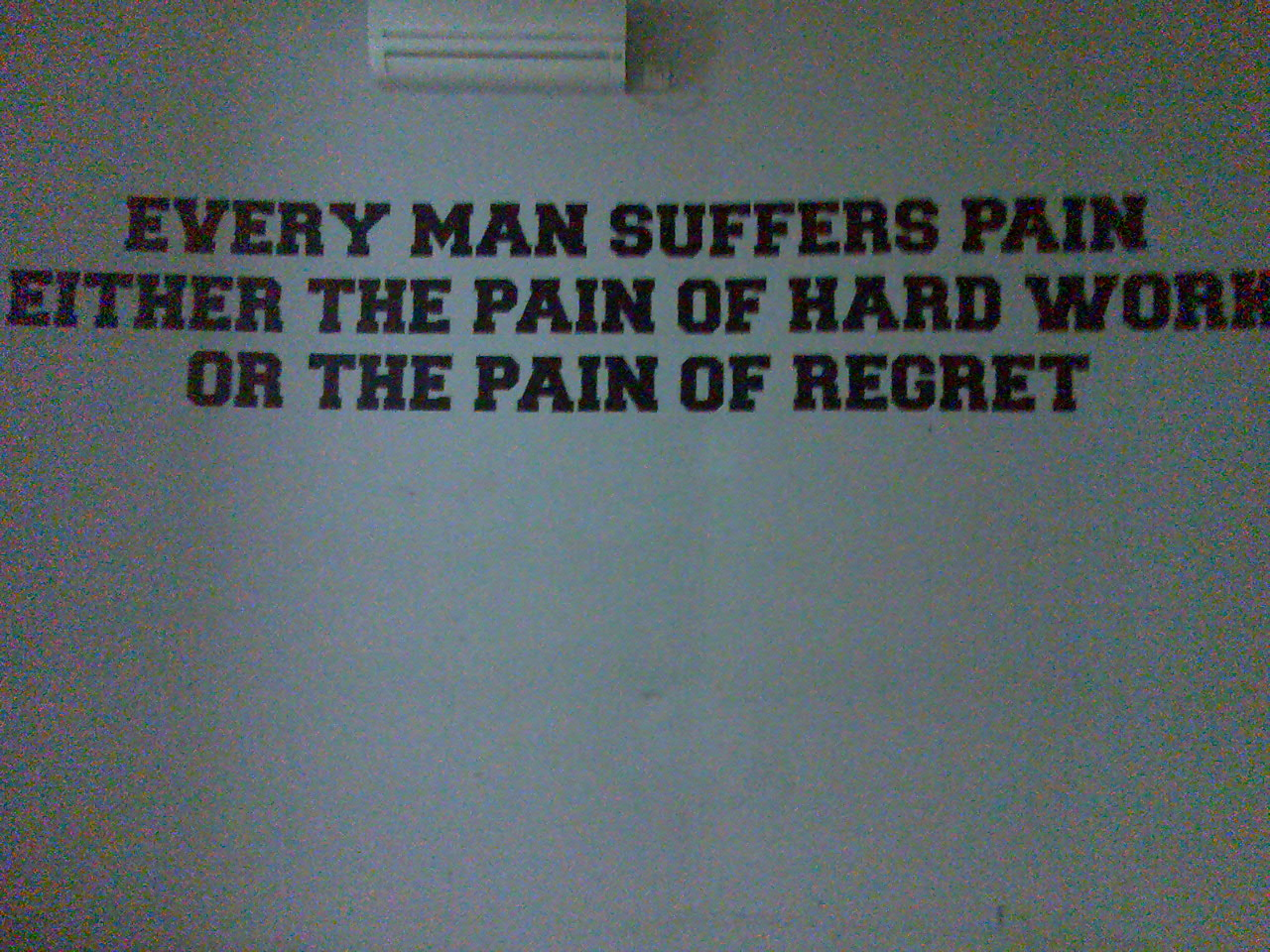 Every Man Suffers Pain Either The Pain Of Hard Work Or The ...