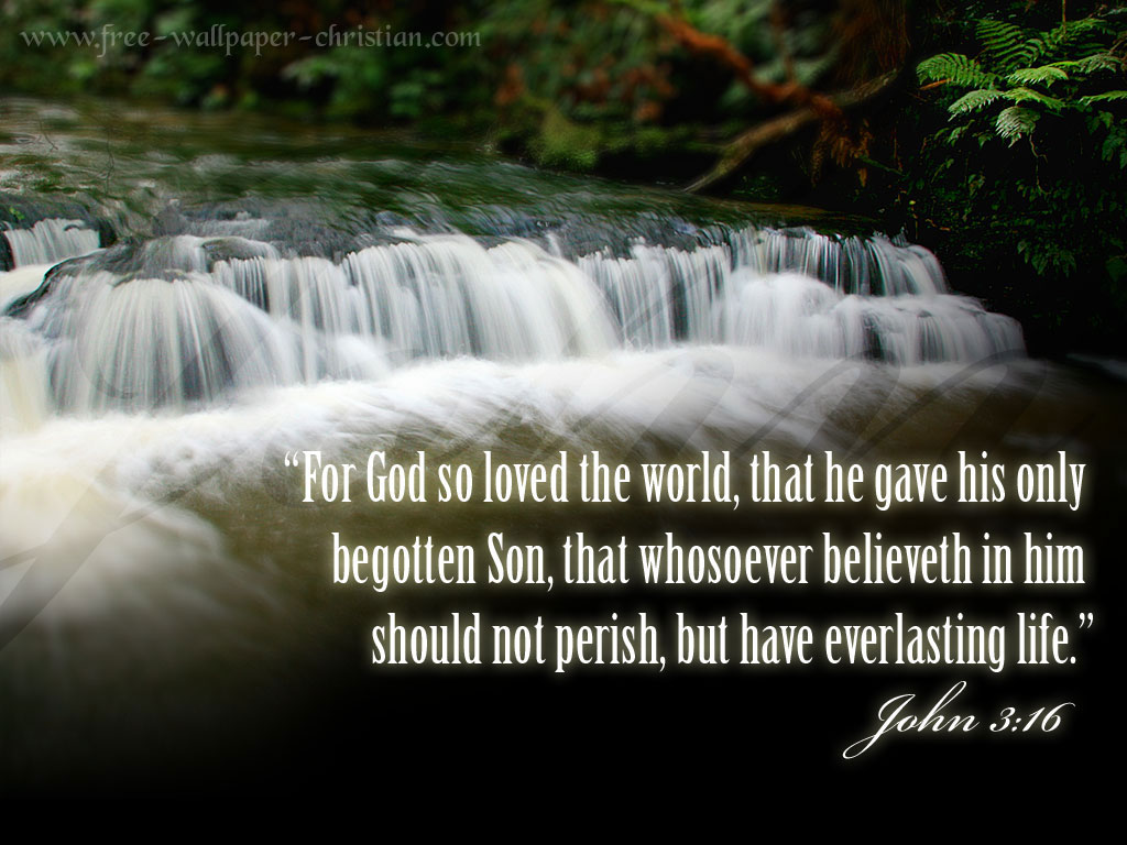 """ For God So Loved The World, That He Gave His Only Begotten Son, That Whosoever Believeth In  Him Should Not Perish, But Have Everlasting Life "" ~ Bible Quotes"