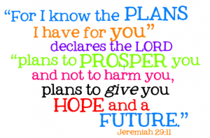 """ For I Know The Plans I Have For You, Declares The Lord "" Plans To Prosper You And Not To Harm You, Plans To Give You Hope And A Future "" ~ Bible Quotes"
