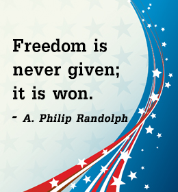 Freedom Is Never Given It Is Won