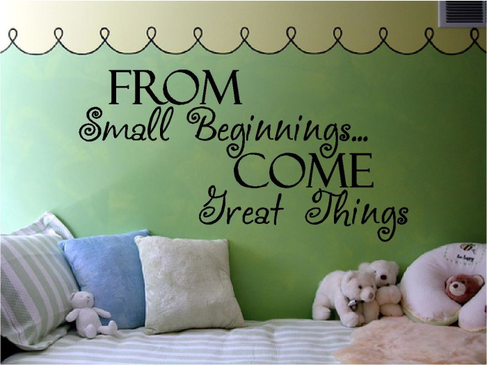 From Small Beginnings Come Treat Things