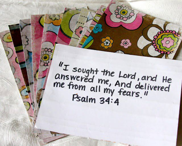 """ I Sought The Lord And He Answered Me, And Delivered Me From All My Fears "" ~ Bible Quotes"