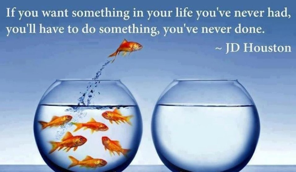 If You Want Something In Your Life You've Never Had, You'll Have To Do Something You've Never Done