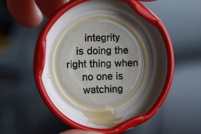 Intergrity Is Doing The Right Thing When No One Is Watching