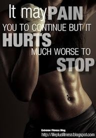 It May Pain You To Continue But It Hurts Much Worse To Stop