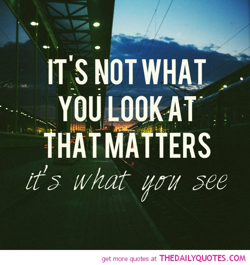 It's Not What You Look At That Matters It's What You See