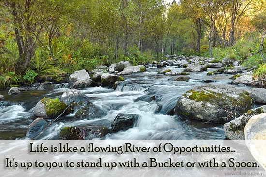 Life Is Like A Flowing River Of Opportunities, It's Up To