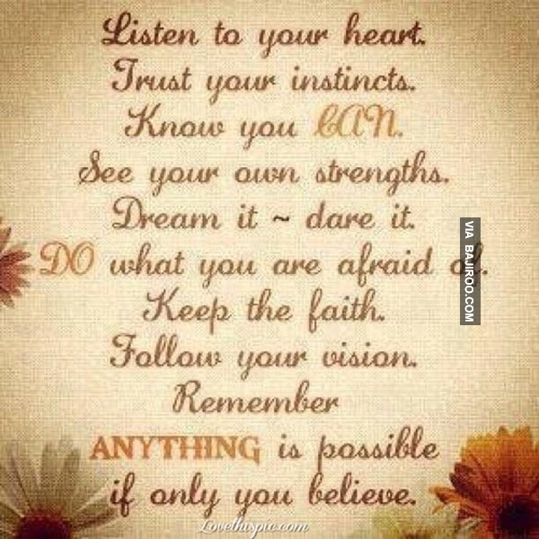 Listen To Your Heart Quotes: Motivational Quotes Pictures And Motivational Quotes