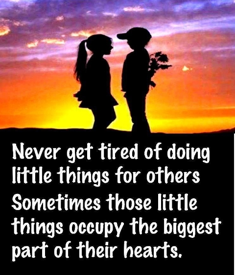 Never Get Tired Of Doing Little Things For Others Sometimes Those Little Things Occupy The Biggest Part Of Their Hearts