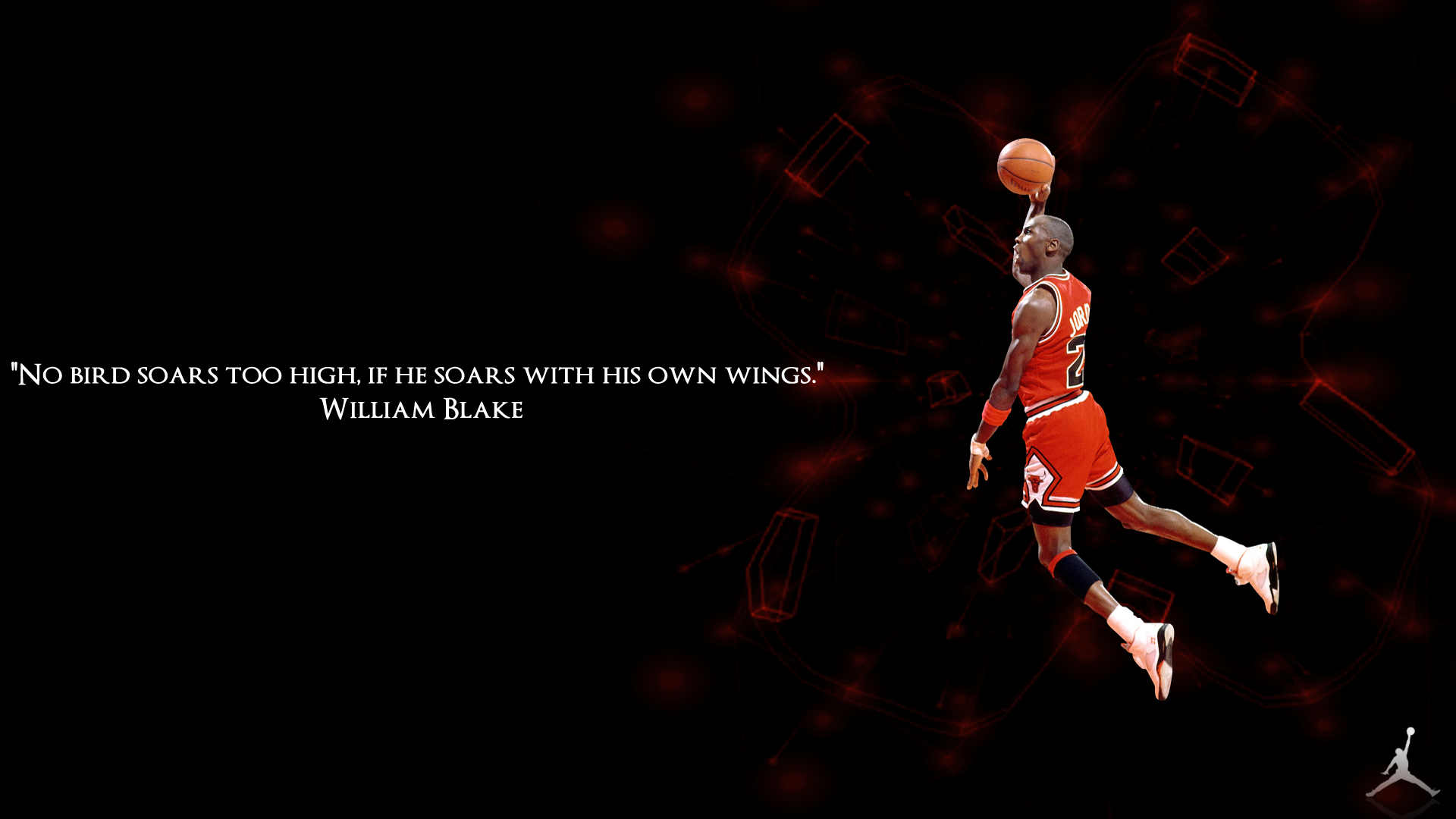 """No Birds Soars Too High, If He Soars With His Own Wings"" - William Blake ~ Basketball Quotes"