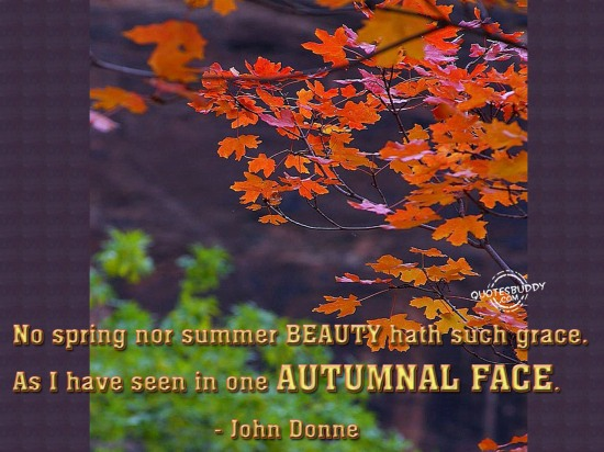 No Spring Nor Summer Beauty Hath Such Grace. As I Have Seen In One Autumnal Face - John Donne