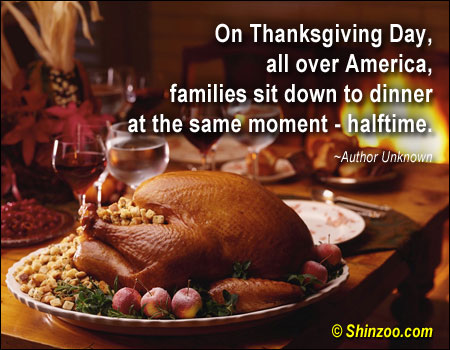 On Thanksgiving Day, All Over America, Families Sit Down To Dinner At The Same Moment