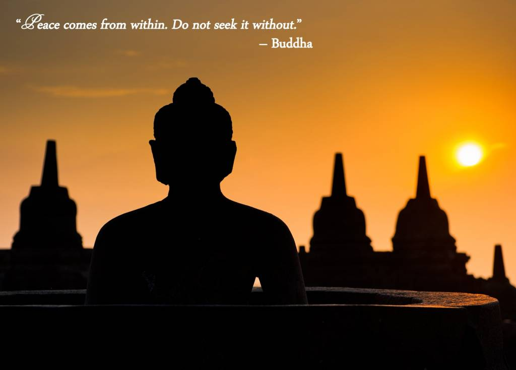 """""""Peace Comes From Within. Do Not Seek It Without"""""""