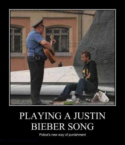 Playing A Justin Bieber Song