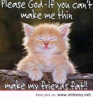 Please God If You Can't Make Me Thin Make My Friends Fat!!