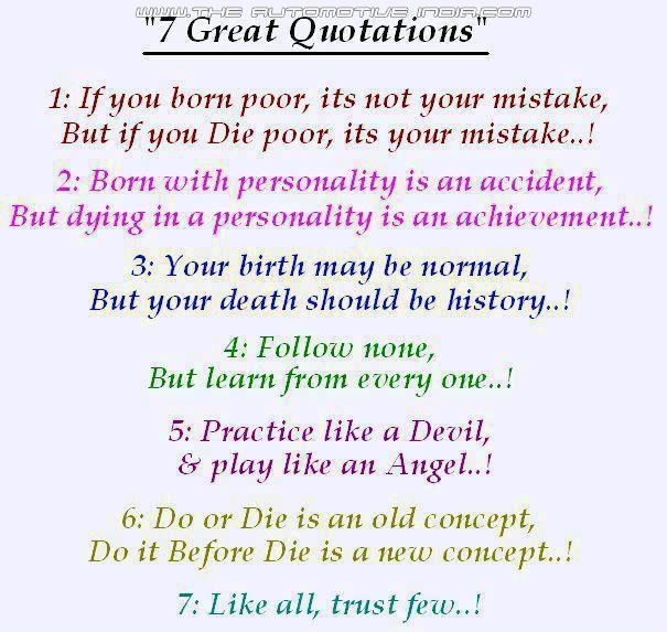 Seven Great Quotations