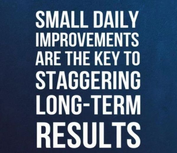 Small Daily Improvements Are The Key To Staggering Long Term Results