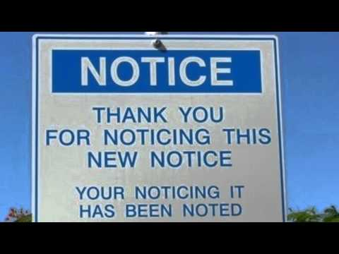 Thank You For Noticing This New Notice Your Noticing It Has Been Noted