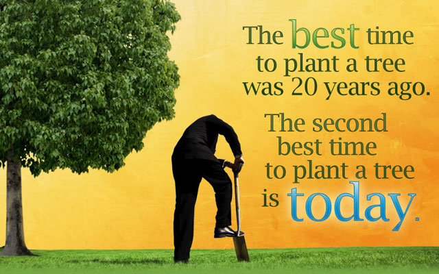 The Best Time To Plant a Tree Was 20 Years Ago. The Second Best Time To Plant a Tree Is Today