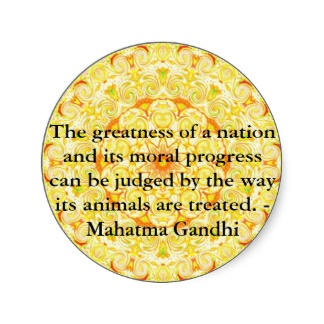 The Greatness Of A Nation And Its Moral Progress Can Be Judged By The Way Its Animals Are Treated. - Mahatma Gandhi