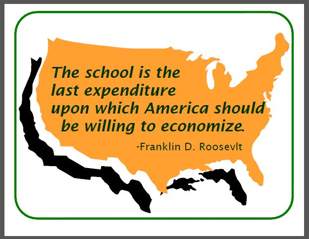 The School Is The Last Expenditure Upon Which America Should Be Willing To Economize