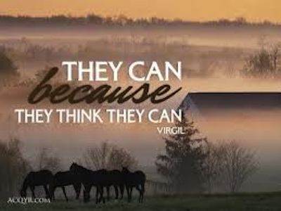 They Can Because They Think They Can