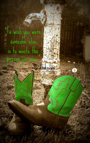 """To Wish You Were Someone Else Is To Waste The Person You Are"""