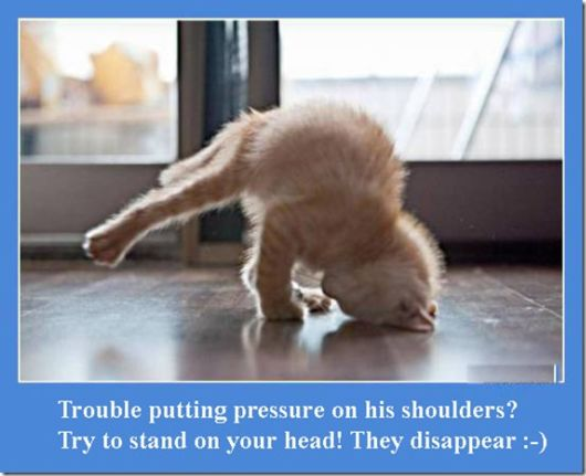 Trouble Putting Pressure On His Shoulder! Try To Stand On Your Head! They Disappear