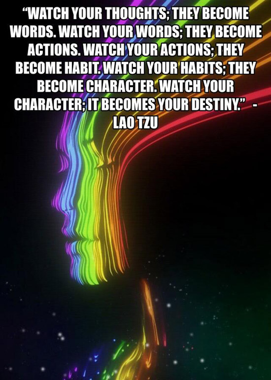Watch Your Thoughts. They Become Words, Watch Your Words, They Become Your Action